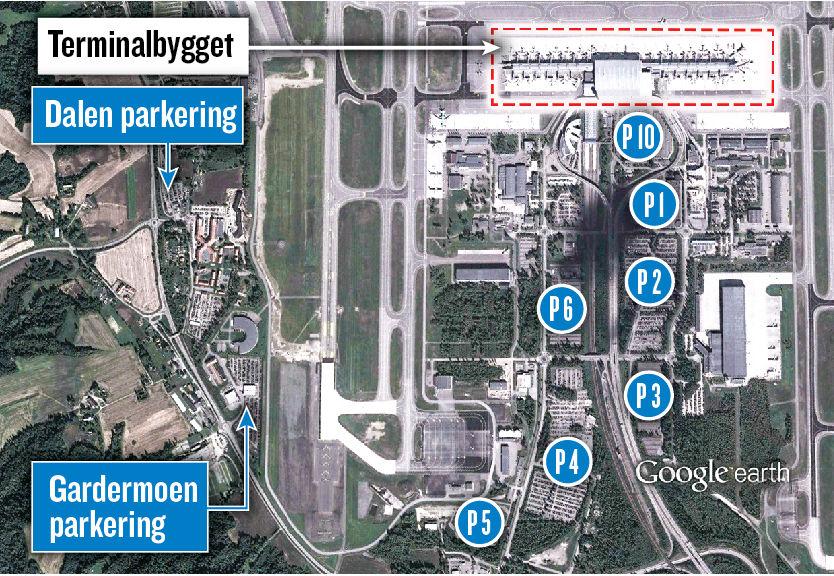 kart over parkering på gardermoen Parkering Oslo Lufthavn Gardermoen | Billige flybilletter og  kart over parkering på gardermoen